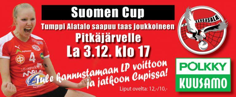 Suomen Cupin puolivälieräpeliparin toinen ottelu lauantaina